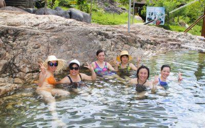 Yang Bay, paradise of hot mineral water bath