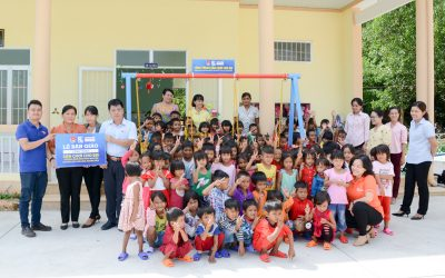 "The project ""Playground for the children at Vanh Khuyen kindergarten in Suoi Cat Commune, Cam Lam district, Khanh Hoa province"""