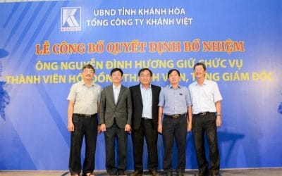 The ceremony to announce the decision on the appointment of the General Director of Khanh Viet Corporation